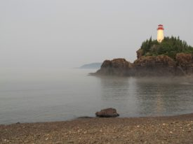 Battle Island Lighthouse on Lake Superior. Photo credit: Susan Miller