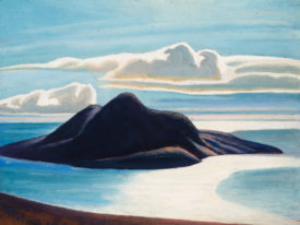 Pic Island painting by Lawren Harris.