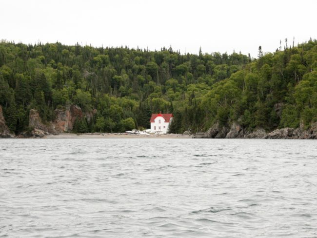 The assistant lighthouse keeper's cabin on the Slate Islands, Lake Superior.