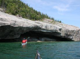Sea Cave on Pic Island, Lake Superior.